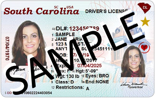 South Carolina's REAL ID driver's license
